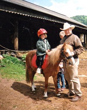 1ère visite de Monty à Obersteinbach en 2003